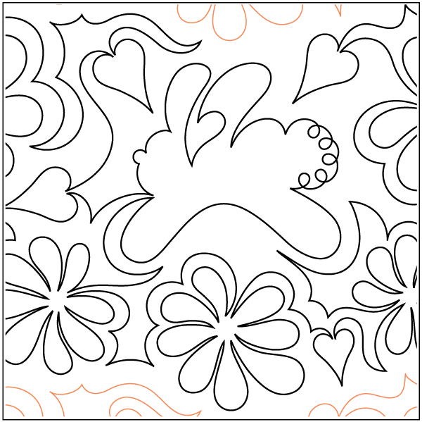 Bunny Blossomes - $0.015/sq in