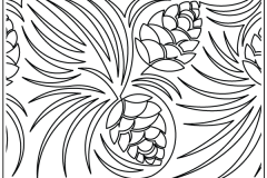 Pine Cone Meander - $0.0175/sq in